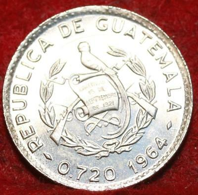 Uncirculated 1964 Guatemala 5 Centavos Silver Foreign Coin