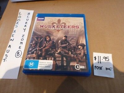 Bluray - Bbc The Musketeers Season 2 Two - Looks New, Aust B Zoned Free Post