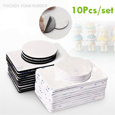 10 Pcs Round Super Strong Double Sided Black Foam Pad Mounting Adhesive Home USA