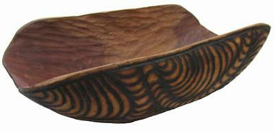 Aboriginal Coolamon Carved Mulga Wood Bowl 80's Vintage 28 x 15 cm
