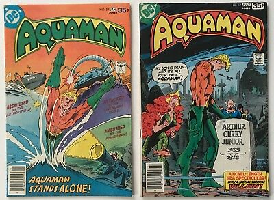 Aquaman #s 59 and 62 DC Comics Bronze Age 1978 FN+ to VF- New Movie Soon