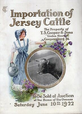1922 Jersey Cattle Auction Catalog