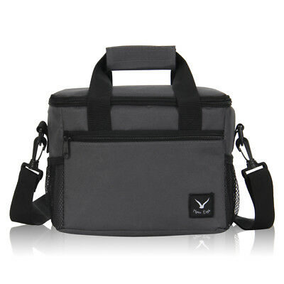 Insulated Thermal Cooler Mini Lunch Bag Beverages Snack Food Storage Bag Gray