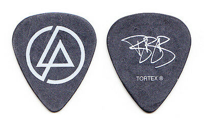 Linkin Park Brad Delson Signature Black Guitar Pick #2 - 2007-2008 Tour