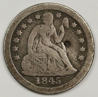 1845-o Liberty Seated Dime.  About Fine Detail.  127832