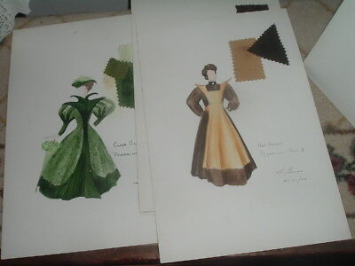 Stratford Festival Of Canada Vintage Costume '62 Pygmaglion Drawings by L. Gross