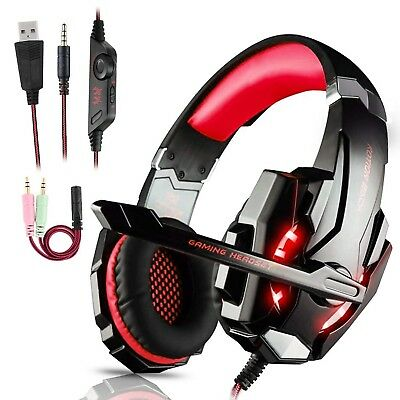 Casque Audio Gamer Gaming Micro Ps4 Pc Usb Ecouteur Ps3 Geek Pro Xbox 360 One