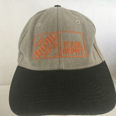 fcbe52e66a6 Embroidered HOME DEPOT Team Depot COCA-COLA Grey Linen finish Hat Snap-Back  EUC