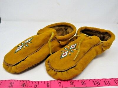 Beautiful Native American Beaded Moccasins 10 Inches, Double Sole