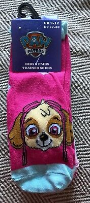 BNWT Girls Paw Patrol 5 Pack Of Trainer Socks. Size 9-12 Shoe