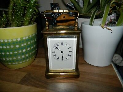 French Striking Hour & Half Hours Carriage Clock