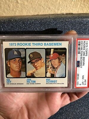 PACK FRESH! 1973 Topps Mike Schmidt ROOKIE #615 PSA 8 NM-MINT HIGH END CENTERED