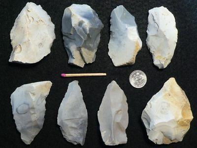 60.000Y.o:great 8 Artifacts Neanderthal Stone Age Paleolithic Mousterian Flint