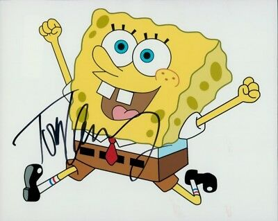 Tom Kenny In Person Signed Photo - Voice of SpongeBob Squarepants - E908