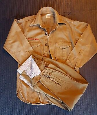 Vintage Antique Boy Scout Uniform Knickers Shirt Old Pants Lace