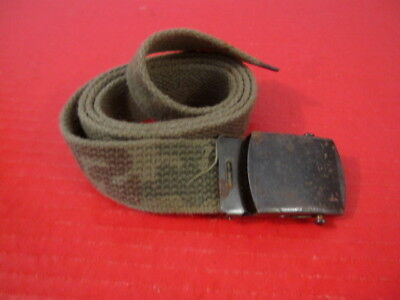 "post-Vietnam US Army Camouflage Canvas Uniform Trouser Belt 38"" Waist - Nice"
