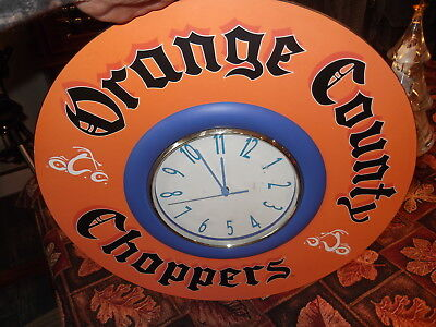 Nice Orange County Choppers motorcycle builders wall clock great mancave piece!