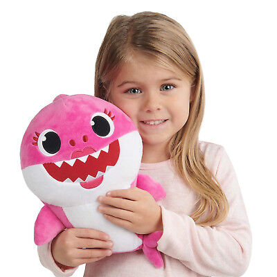 Pinkfong Baby Shark Official English Version Song Doll - Mommy Pink - by WowWee