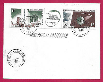 Taaf Pa N°11A Iles St Paul Et Amsterdam 1966 Lettre Cover