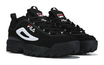 Fila Mens Disruptor Ii Sneaker Black White Red Shoes 2019 **free Post Aust