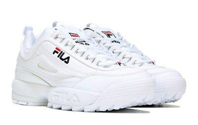 Fila Mens Disruptor Ii Sneaker White Navy Red Shoes 2019 **free Post Aust