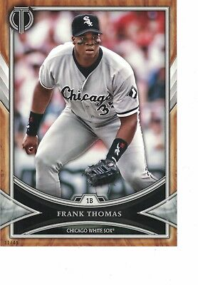 2018 Topps Tribute 5x7 11/49 Frank Thomas Chicago White Sox SET BREAK