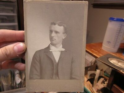 1890s Antique Old Cabinet Photo Picture Wooster Ohio Handsome Young Man Teacher