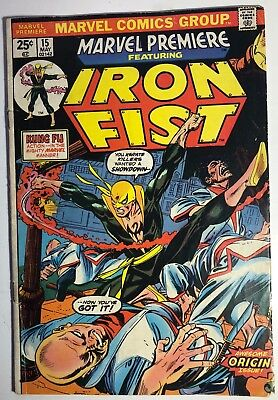 MARVEL PREMIERE #15 1st IRON FIST 1974 MARVEL COMICS