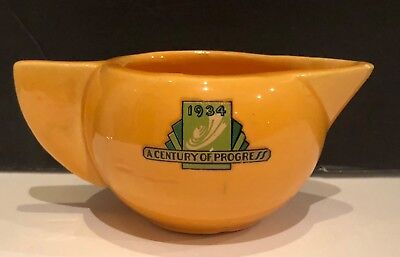 ~1934 Chicago~A Century Of Progress Creamer~Art Deco~Ceramic~Elegant!~