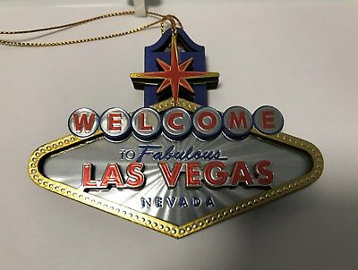 Las Vegas Welcome Sign 3D Christmas Hanging Tree Ornament Holiday