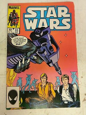 Star Wars #93 March 1985 Marvel Comic Book