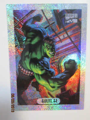 1994 MARVEL MASTERPIECES - SILVER HOLOFOIL CARD - ( 4 of 10 ) HULK