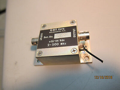 Q-Bit QB-808 RF Amplifier 2 to 600 MHz, 12dB gain, +43 dB intercept, 12-24V Amp