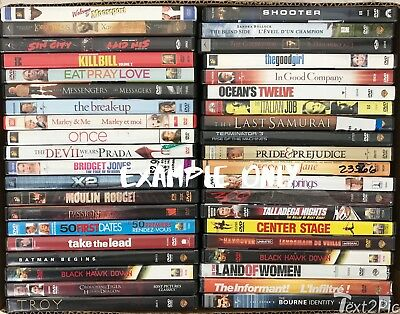 Lot of 160 Wholesale DVD's: Drama Action Comedy Movies