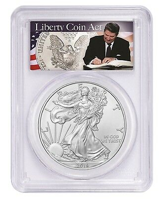 2019 1oz Silver Eagle PCGS MS70 Liberty Coin Act Label