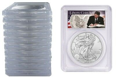 2019 1oz Silver Eagle PCGS MS70 Liberty Coin Act Label 10 Pack