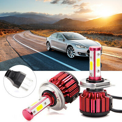 4-Side H4 LED 300W 36000LM High And Low Beam Bright Headlight Car Bulbs