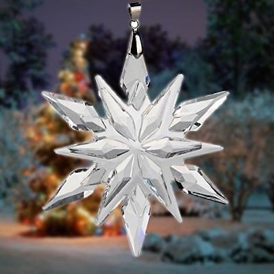 2018 Swarovski Crystal Snowflake Chandelier Prisms Drop ANNUAL Pendants Ornament