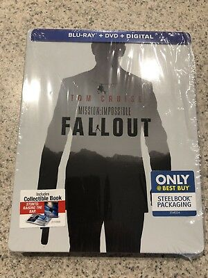 Mission Impossible: Fallout (Blu-ray & DVD, 2018) BBY Steelbook NO DIGITAL