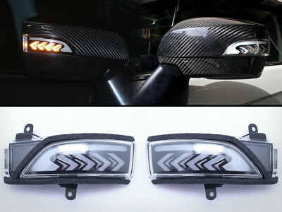Sequential Turn Signal LED Light Side Door Mirror Smoke For 15-19 Subaru WRX STi