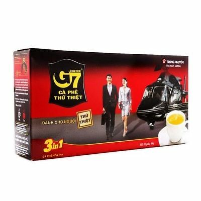 G7 3-in-1 Instant Coffee mix 21 sachet 16gr Trung Nguyen Vietnam Coffee