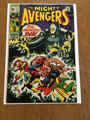 Avengers #67 FN/VF (8/69) 1st Ultron Cover!