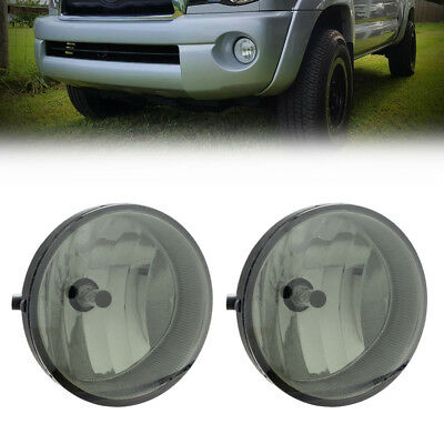 Smoke For 2006 Toyota Tacoma Bumper Fog Lights Lamps w/Bulb Switch Left Right
