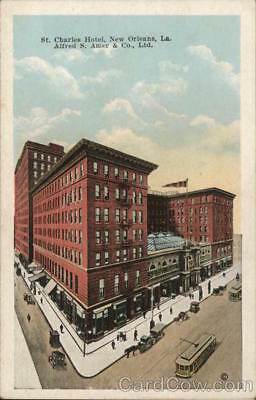 New Orleans,LA St. Charles Hotel Kropp Louisiana White Border Postcard