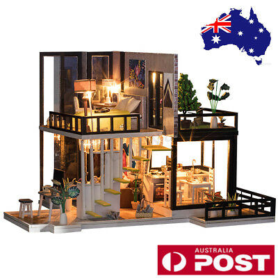Miniature Dollhouse DIY Handcraft Kit Furnitures Wooden House Romantic House AU