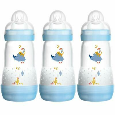 Mam 260Ml Anti-Colic Bottle Self Sterilising Bottle 3 Pack