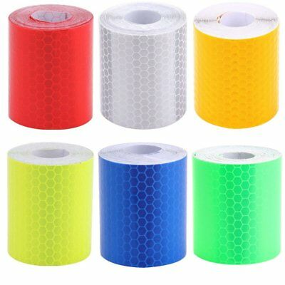 Car Safety Warning Reflective Tape Stickers Roll Film Reflector Sticker Decal 3M