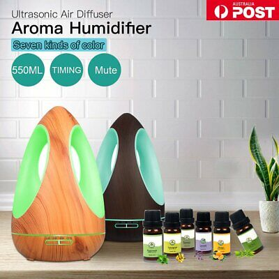 LED Essential Oil Aroma Diffuser Ultrasonic Aromatherapy Air Humidifier Purifier