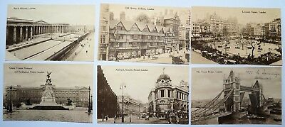 6 AK sepia LONDON 20er - Leicester Square - Aldwych - Tower Bridge - Museum 3