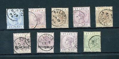 St Lucia  Queen Victoria  Selection  on Stockcard     (D1519)